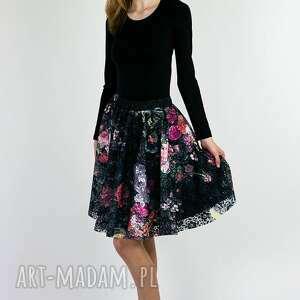 koronkowa spódnica z koła, spódnica, w róże, koronkowa, elegancka, zwiewna