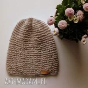 wiosenna czapka kid mohair & alpaca, beanie, czapka, alpaka, mohair, na-drutach,