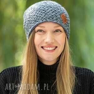 handmade czapki explorer cieniowany szarości