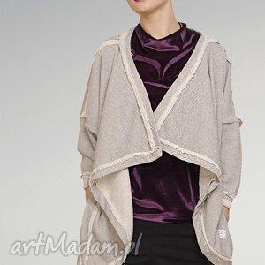 metaliczna bluza undone, metaliczna, srebrna, nitka, oversize