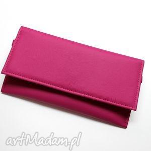kopertówka - fuksja, elegancka, nowoczesna, wizytowa, handmade, prezent, wesele