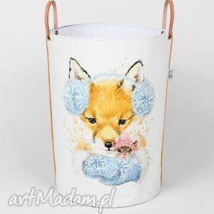 pojemnik z lisem i myszką, pojemnik, urodziny, lis, przechowywanie, prezent pokoik