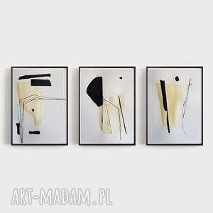 abstrakcja-trzy prace wykonane tuszem i akwarelą, abstrakcja, akwarela, tusz