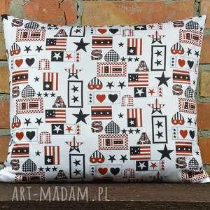 Prezent Poduszka dekoracyjna z motywem 40x45cm, poduszki, poszewka, ozdoba