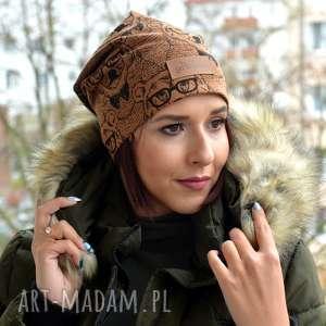 czapka w misie niedźwiadek ciepła unisex beanie, ciepła, czapka, miś