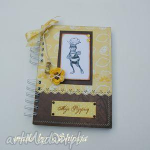 hand-made notesy przepiśnik - pszczoła w cytrynach