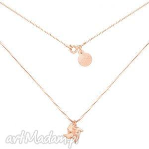 naszyjnik z różowego złota wiatraczkiem, złoto, różowe, wiatraczek, łańcuszek