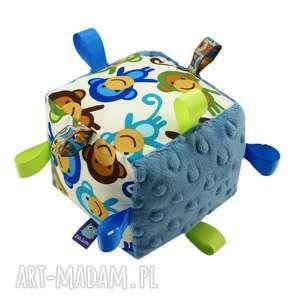 hand-made zabawki kostka sensoryczna, wzór małpki