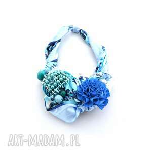 wielki bŁĘkit naszyjnik handmade - naszyjnik, niebieski, błękitny, morski