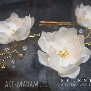 jedwabne kwiaty, ślub, jedwab, ozdoba, wire, wrapping ozdoby do włosów