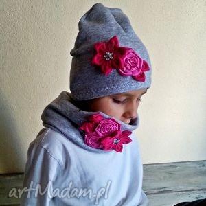 czapka komin dla dziewczynki - szaliki, kominy, czapki