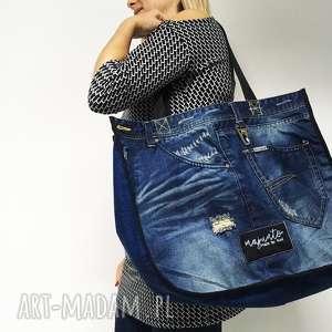 duża torba upcykling jeans 12 desigual, upcykling