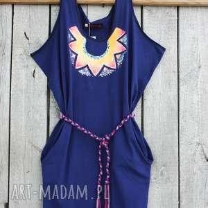 sukienka ręcznie malowana rozmiar s, sukienki bawełniane, damska