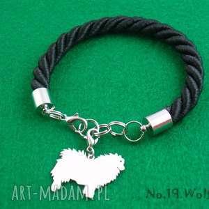 bransoletka szpic wilczy pies nr 19, bransoletka, pies, prezent, rękodzieło