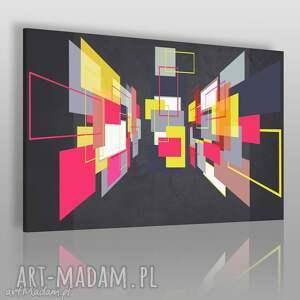 obraz na płótnie - geometryczny trójkąty 3d 120x80 cm 50601, obraz, 3d, prostokąty