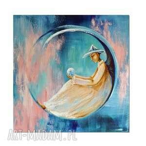 anioł emerson, obraz ręcznie malowany, obraz, ręcznie, anioł