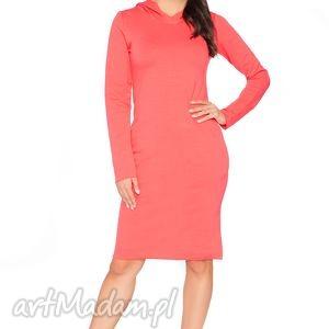 Sukienka A_4 z kapturem - RaWeaR, sportowa, dresowa, wygodna, surowa, kaptur