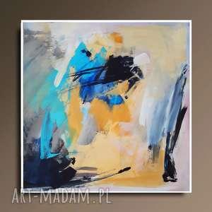 abstrakcja, duży obraz do salonu, abstrakcyjny, turksusowa