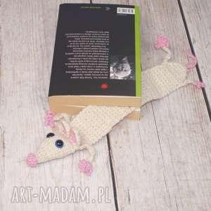 pomysł na upominki święta Szczurek- zakładka do książki, szczur, szczurek