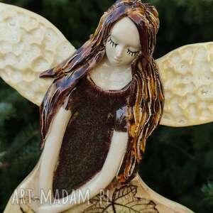 hand-made dla dziecka leśny klonowy anioł