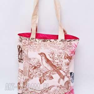 Torba na zakupy shopperka ekologiczna zakupowa na ramię bawełniana szoperka