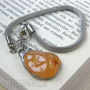 BRANSOLETKA Z KARNEOLEM, naturalny-kamien, karneol, amulet, talizman, prosta