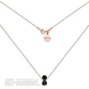 naszyjniki naszyjnik z różowego złota kryształowym ciężarkiem swarovski crystal