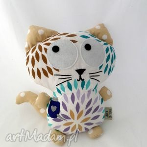 Kicior kolorowy maskotki maly artysta kot, kotek, przytulanka,