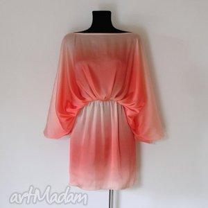 bluzki summer tunic oversize, tunika, lato, beż, pomarańczowy, wiosna, sukienka