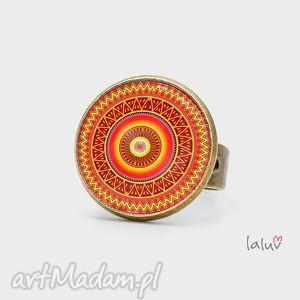 pierścionek aztecka mandala, relaks, buddyzm, medytacja, prezent, wzór