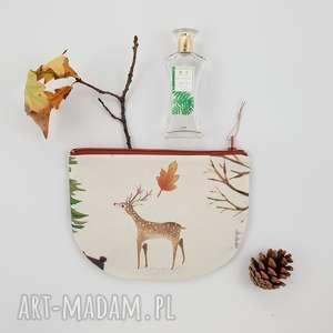 kosmetyczka półksiężyc leśna, kosmetyczka, sarna, las, góry, saszetka