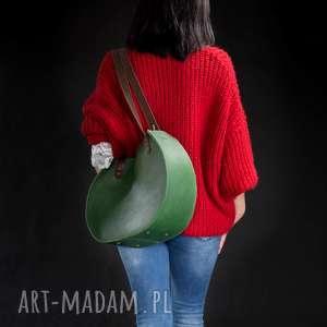 torebka torba skórzana ręcznie robiona z zamkiem Basia Ladybuq art Studio