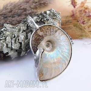 wisior z amonitem - amonit, muszla, wisior, prezent
