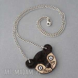 miś - naszyjnik ceramika, minimalizm, prezent, skandynawski, design, praca, luz