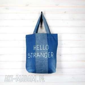 hand made torba dżinsowa hello stranger things