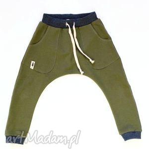 Spodnie BAGGY khaki, spodnie, baggy, dziecko, sznurek, wiosna