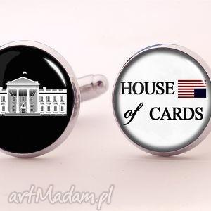 ręczne wykonanie spinki do mankietów house of cards - spinki do mankietów