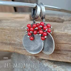 koral - kolczyki 05, czerwony, kolczyki, modne biżuteria