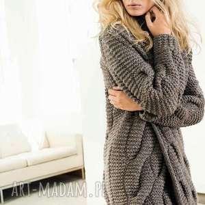 swetry sweter płaszcz ottawa, sweter, płaszcz, gruby, wełniany, kobiecy, prezent