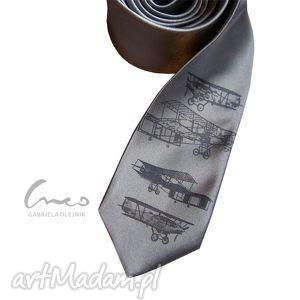 krawaty krawat z nadrukiem - aeroplan, krawat, nadruk, samolot, prezent