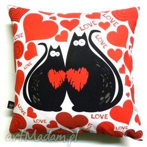 Poduszka dla zakochanych, poduszka, koty, walentynki