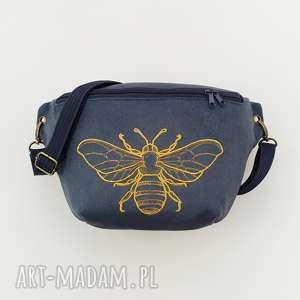 Nerka xxl pszczoła - ,nerka,haft,pszczoła,saszetka,torebka,