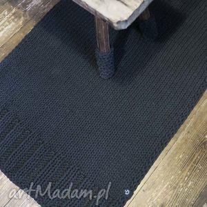 unikalny prezent, dywan ze sznurka 140 x 60 cm, rękodzieło, drutach, chodnik, dziany