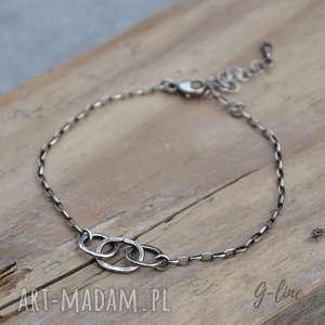 Surowa srebrna bransoletka, surowa, minimalistyczna, srebrna, prosta