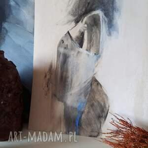 święta, szkic kobiety 30x40, obraz do salonu, akt grafika, grafika postać
