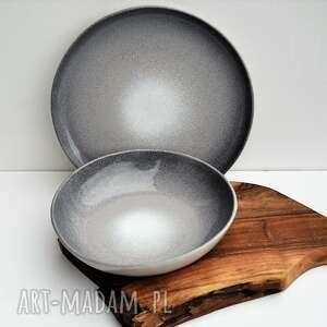 ceramika zestaw ceramiczny xxl - duży talerz taca plus duża misa