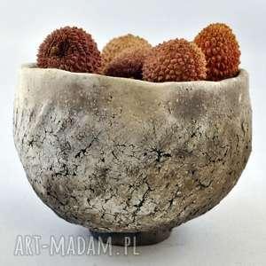 ceramiczna czarka odymiona 1, naczynie, ceramika, użytkowe, unikatowe, spożywczer,
