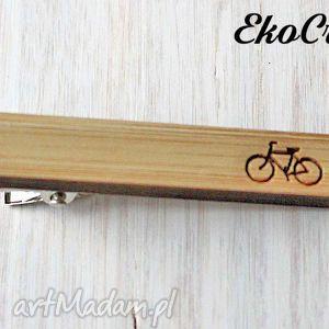 Drewniana spinka do krawata rower krawaty ekocraft spinka