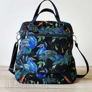 torebka listonoszka - pawie, elegancka, nowoczesna, listonoszka, pakowna