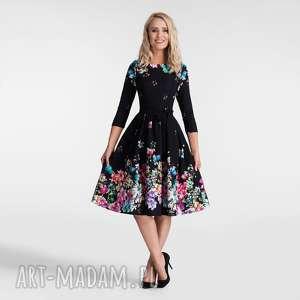 sukienka marie 3/4 midi belinda, bankietowa